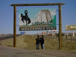 Julie and Linda at the Wyoming border.jpg
