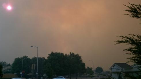 Within moments the smoke was filling my neighborhood.