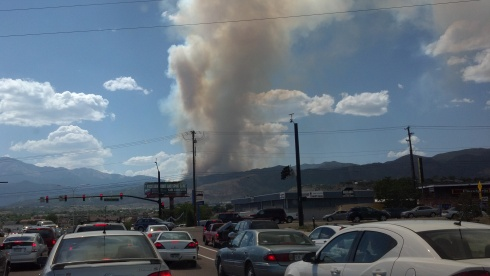 Almost home, the Waldo Canyon fire had been burning for an hour.